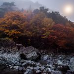 月光下のみたらい渓谷